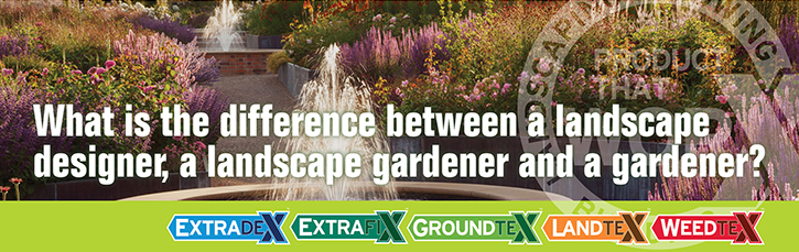 What is the difference between a landscape designer, a landscape gardener and a gardener?