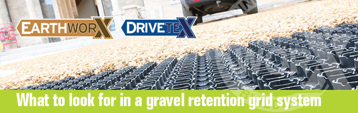 What to look for in a gravel retention grid system