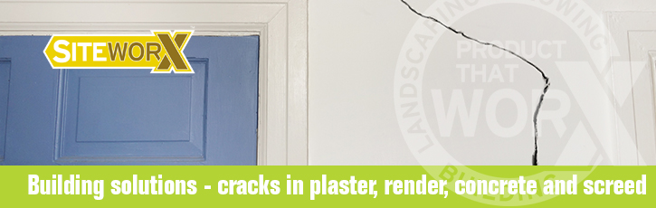 Building solutions – cracks in plaster, render, concrete and screed