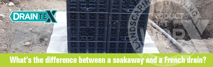 What's the difference between a soakaway and a French drain?