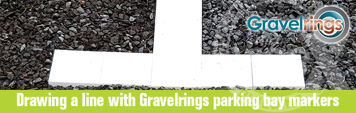 Drawing a line with Gravelrings Parking Bay Markers