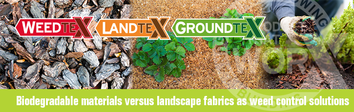 Biodegradable materials versus landscape fabrics as weed control solutions